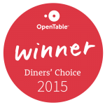 Opentable diners choice awards 2015