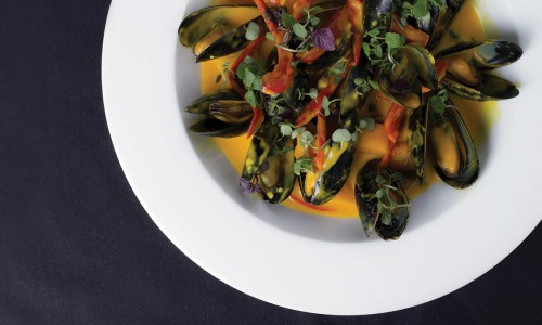 Pumpkin Curry Mussels
